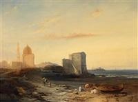 orientalische landschaft by jacob jacobs