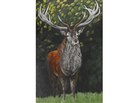 exmoor stag (the emperor) by christine allison