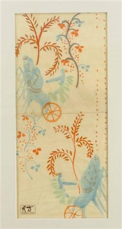 komposition mit streitwagen und floraldekor by raoul dufy