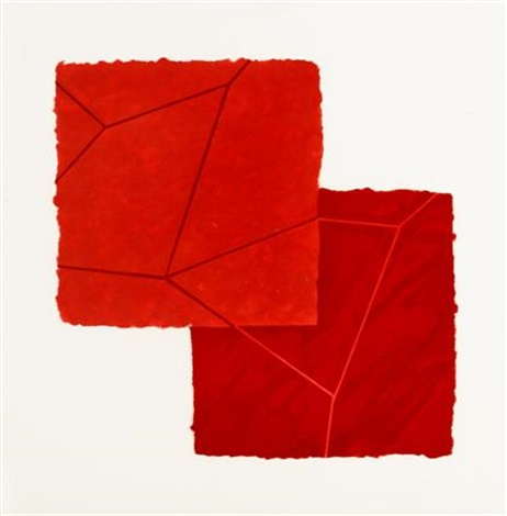 double red crackle from crackle portfolio by mary heilmann