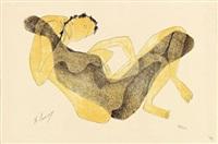 femme allongée au bras levé by henri laurens