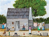 wash day at the sharecropper's cabin by jack meyers