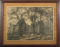 bingham hall, old campus, yale university by macowin tuttle
