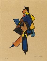 ohne titel (abstrakte formen) by hans leistikow