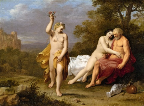 lot and his daughters by cornelis van poelenburgh