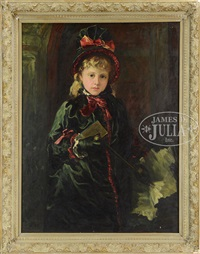 girl with parasol by weedon w. grossmith