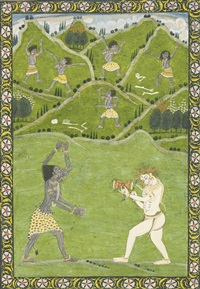 an illustration depicting kali dancing to shiva's drum by anonymous-indian (19)