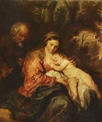 den hellige familie (after van dyck) by otto vaeltl