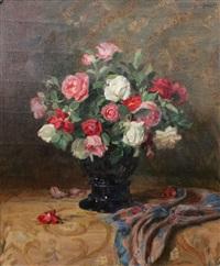 stilleben med rosor by josef jungwirth