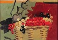 trübeli – stillleben mit johannisbeeren, by heinrich müller