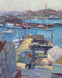 gloucester harbor by michael graves