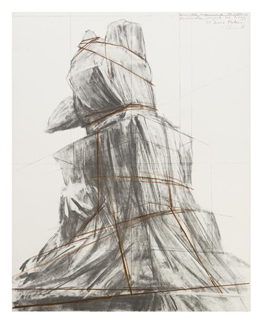 wrapped monument to vittorio emanuele (project for piazza del duomo milano) by christo and jeanne-claude