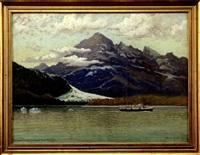 davison glacier, endicott river, alaska by myron clark