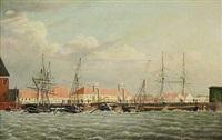 knippelsbro 4. april 1830 om morgenen by carl dahl