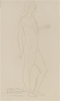 stehender weiblicher akt / stehender weiblicher akt in rückenansicht (2 works) by gerhard marcks