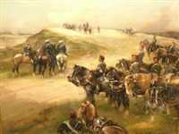 royal horse artillery in action by william kennedy