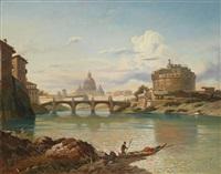 rom, blick auf die engelsburg by franz reinhold