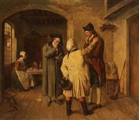 drei herren im gespäch by berthe leonard