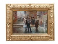 venetiansk marknadsscen by august stephan