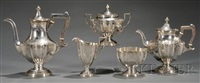 tea and coffee service (set of 5) by meriden brittania (co.)
