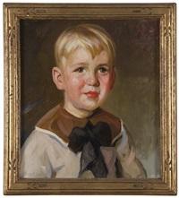 konrad, portrait of a boy by christian von schneidau