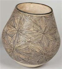pinstripe star pot by marie z. chino