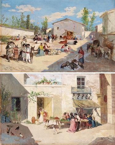 mercado de valencia und pareja place de ariella pair by manuel picolo y lopez