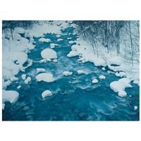 bergbach im winter by takeuchi toshinobu
