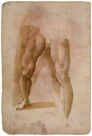 männliche beine study by domenico beccafumi
