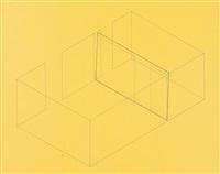 bl. 2 aus: acht variationen für die galerie heiner friedrich by fred sandback