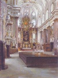 innenansicht der klosterkirche in fürstenfeld by rudolf huthsteiner