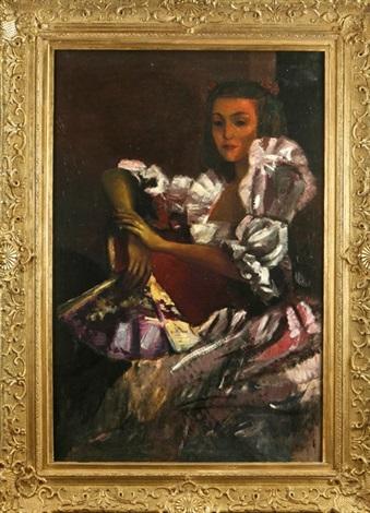 spanierin mit fächer by leo von könig