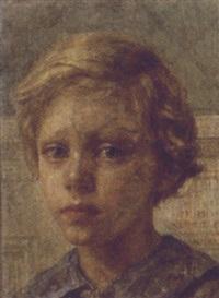 portræt af kunstnerindens son ole dorph by bertha dorph
