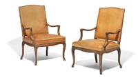 high back armchairs (pair) by frits henningsen