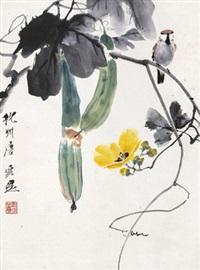 瓜瓞绵绵 立轴 纸本 by tang yun