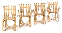 hat trick chairs (set of 4) by frank gehry