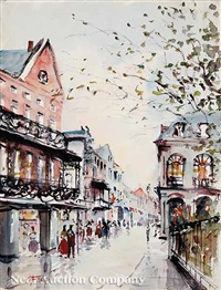 st. peter st., french quarter (+ 2 others; 3 works) by nestor fruge