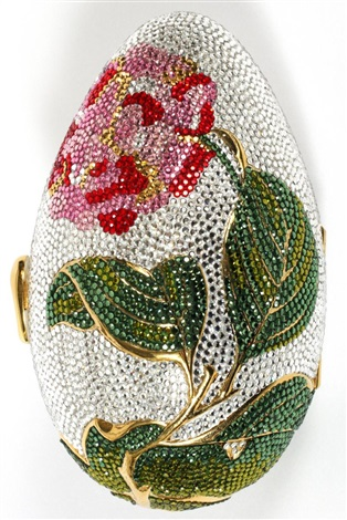 judith leiber multicolor crystal egg minaudiere w 5