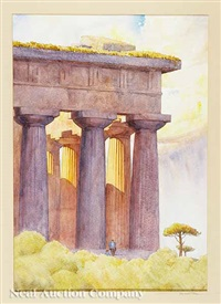 paestum, temple of neptune by sherwood allen