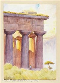 paestum, temple of neptune by sherwood allen
