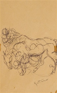 cavallo by guttuso renato