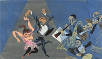 jazz dancers by william gropper