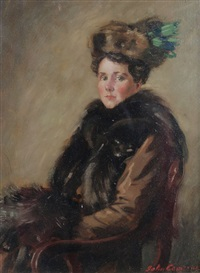 lady in furs by john cameron