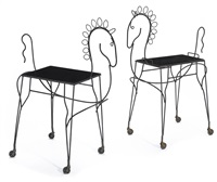 horse form tables (pair) by john risley