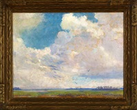 clouds over marshes by hattie saussy