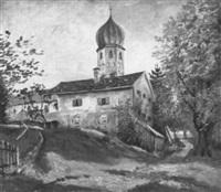 blick auf das benediktinerinnenkloster frauenchiemsee auf der fraueninsel by paul götz-racknitz
