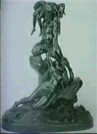 mand redder kvinde med born fra havet by jacques jaquet
