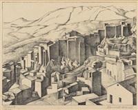 olevano iii 1934 / xxi by alexander kanoldt