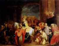 der triumphzug des mardochaj by salomon koninck