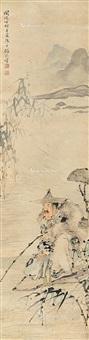 寒江垂钓 by ren yi